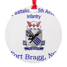 2nd Bn 505th ABN Round Ornament