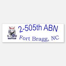 2nd Bn 505th ABN Cap Bumper Bumper Sticker