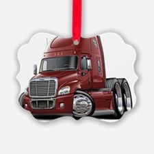 Freightliner Cascadia Maroon Truc Ornament