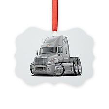 Freightliner Cascadia White Truck Ornament