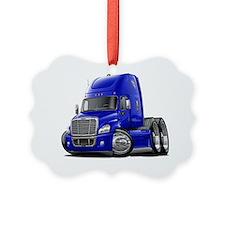 Freightliner Cascadia Blue Truck Ornament