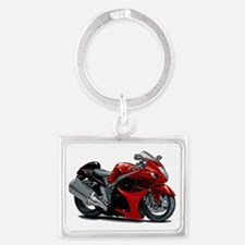 2-Hayabusa Red-Black Bike Landscape Keychain