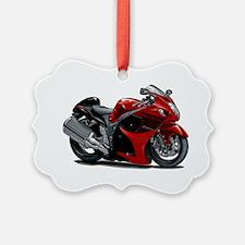 2-Hayabusa Red-Black Bike Ornament
