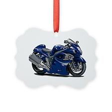 2-Hayabusa Dark Blue Bike Ornament