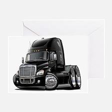 Freightliner Cascadia Black Truck Greeting Card