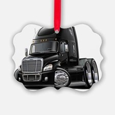 Freightliner Cascadia Black Truck Ornament