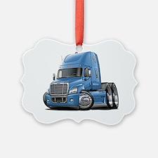 Freightliner Cascadia Lt Blue Tru Ornament