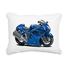 2-Hayabusa Blue Bike Rectangular Canvas Pillow