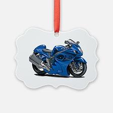 2-Hayabusa Blue Bike Ornament