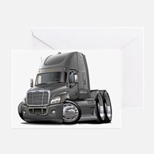 Freightliner Cascadia Grey Truck Greeting Card