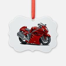 2-Hayabusa Red Bike Ornament