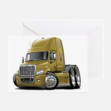 Freightliner Cascadia Gold Truck Greeting Card