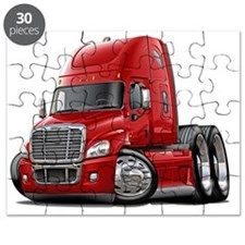 Freightliner Cascadia Red Truck Puzzle