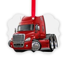 Freightliner Cascadia Red Truck Ornament
