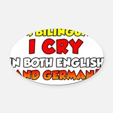 Bilingual German Baby Shirt Oval Car Magnet