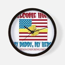 Welcome Home OEF Wall Clock