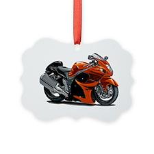 2-Hayabusa Orange Bike Ornament