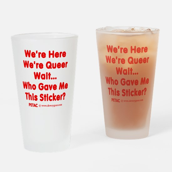 PetacThisSticker Drinking Glass