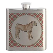 RDORN-shar-pei-christmas Flask