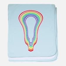 Lacrosse Hypnotize Rainbow baby blanket