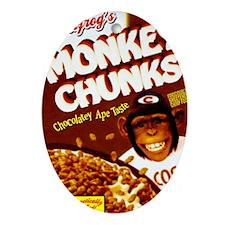 monkey_chunks_BF_wide Oval Ornament