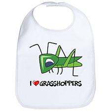 I Love Grasshoppers Bib