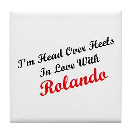 In Love with Rolando Tile Coaster
