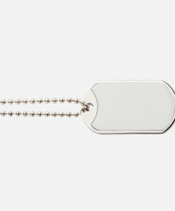 not at the table white Dog Tags