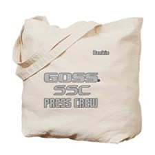 2-Kevin Benkie Press Crew-4-grey Tote Bag