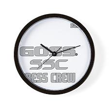 2-Kevin Benkie Press Crew-4-grey Wall Clock