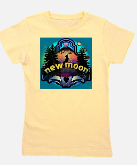 new moon magic forest for buttons copy Girl's Tee