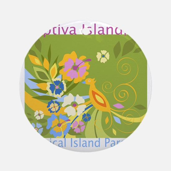 Captiva-Island-Tropical-Paradise Round Ornament