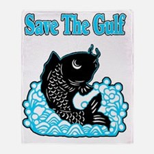 save the gulf 1 Throw Blanket