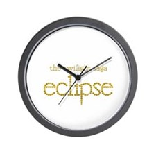Eclipse13.25InchCircleWhite Wall Clock