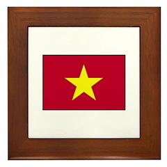 Vietnam Flag Framed Tile