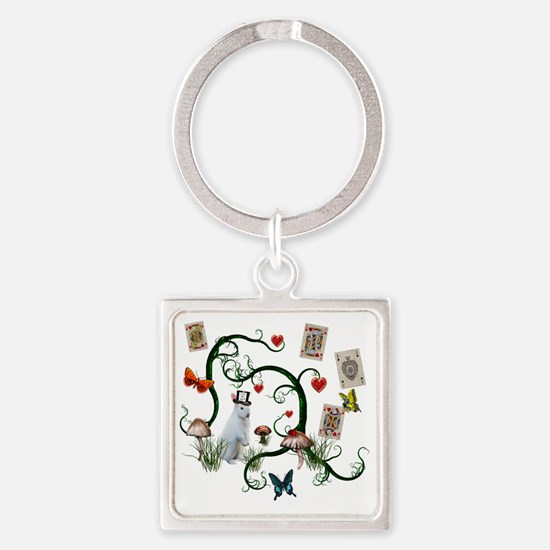 alice5 Square Keychain
