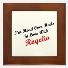 In Love with Rogelio Framed Tile