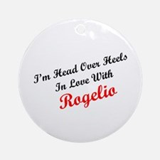 In Love with Rogelio Ornament (Round)