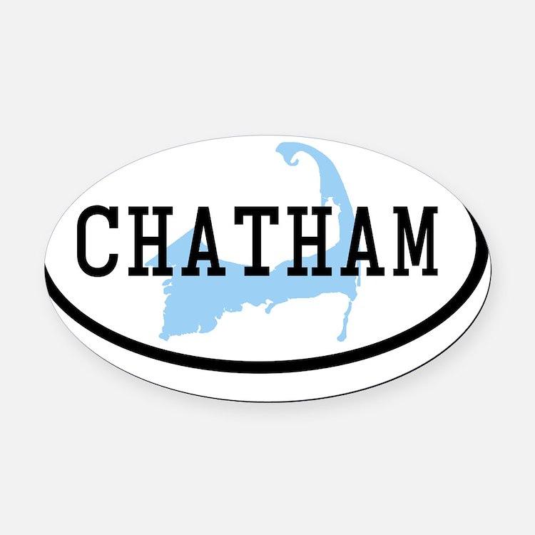 chatham Oval Car Magnet