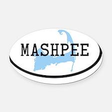 mashpee Oval Car Magnet