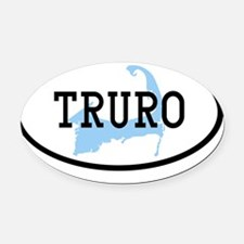 truro Oval Car Magnet