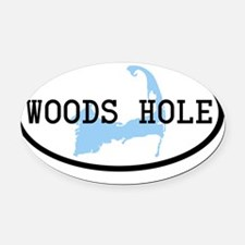 woods-hole Oval Car Magnet