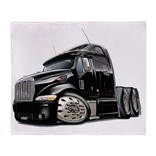 Peterbilt 587 Black Truck Throw Blanket