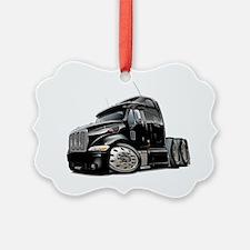 Peterbilt 587 Black Truck Ornament