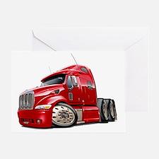 Peterbilt 587 Red Truck Greeting Card