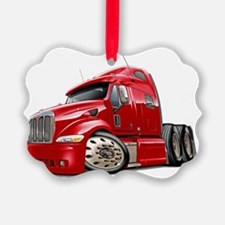 Peterbilt 587 Red Truck Ornament