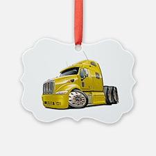 Peterbilt 587 Yellow Truck Ornament