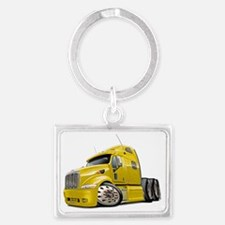 Peterbilt 587 Yellow Truck Landscape Keychain