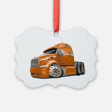 Peterbilt 587 Orange Truck Ornament