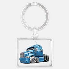 Peterbilt 587 Lt Blue Truck Landscape Keychain